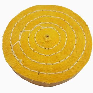 Roda De Pano Para Polir E Lustrar Cor Amarela Diâmetro 6