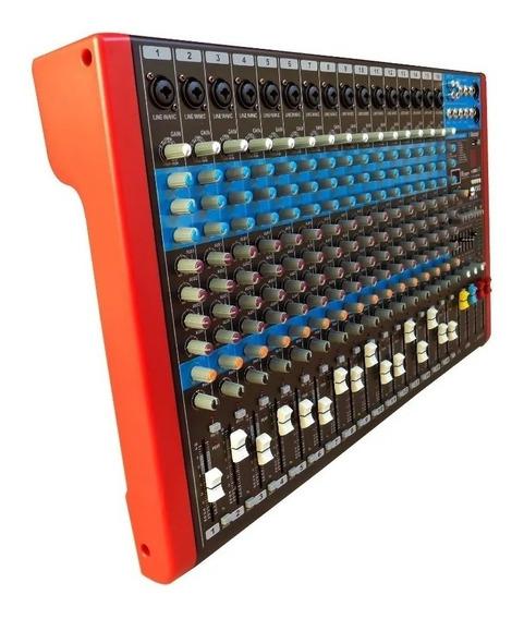 Mesa 16 Canais Soundvoice Ms16.4 C/4 Aux Usb Blutoot #279908