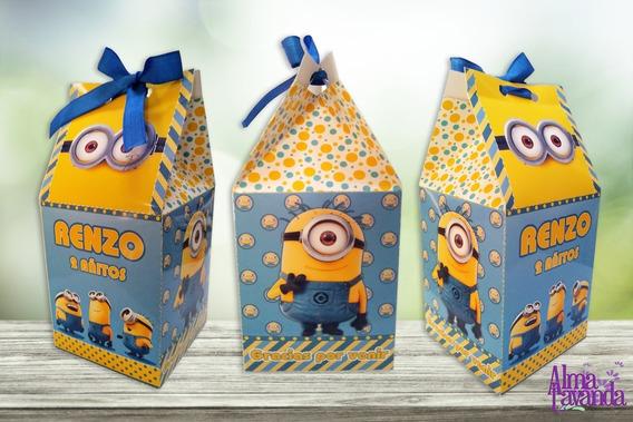 Minions Cajita Para Golosinas - Tipo Milkbox Para Imprimir