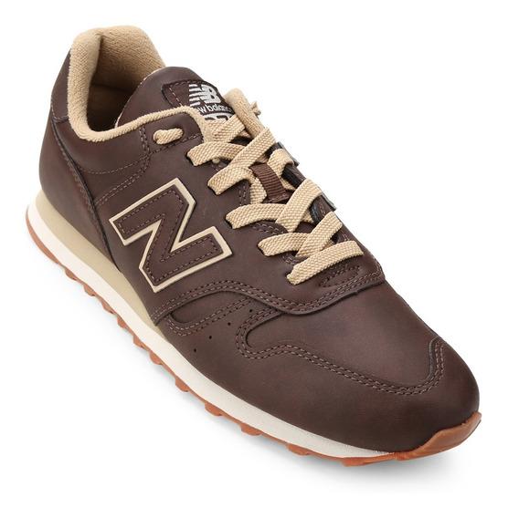 Tênis New Balance 373 De Couro Marrom Tamanho 40