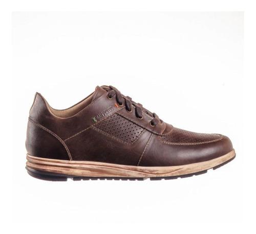 Zapato Deportivo Para Hombre San Polos Jr-030 Cafe