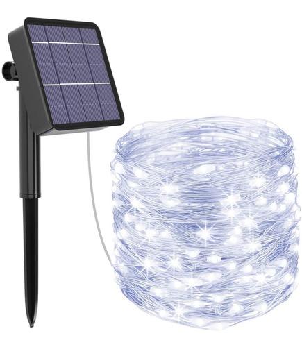 Guirnalda Luces Led Solares Exteriores 32m 300led Decoración