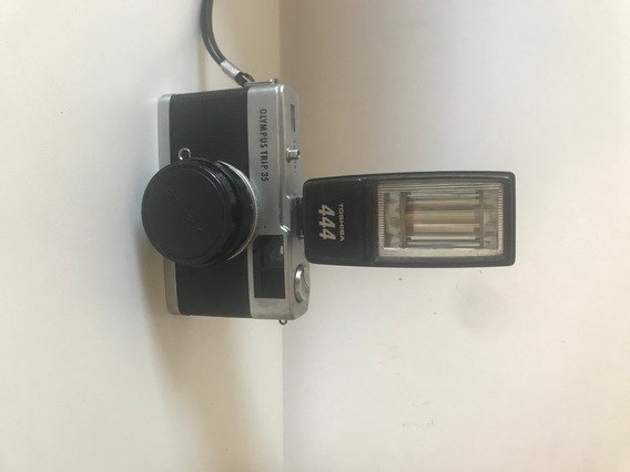 Maquina Fotografica Olympus Trip 35 Com Flash Toshiba 444