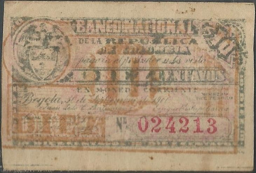 Banco Nacional 10 Centavos 30 Sep 1900 Serie C P263