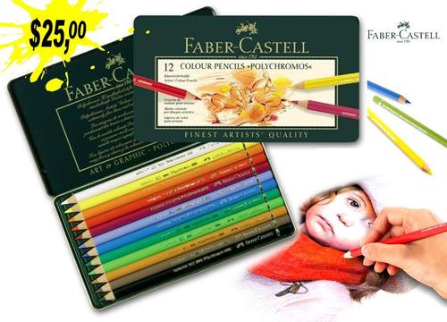 Imagen 1 de 2 de Faber-castell Polychromos Artists, Caja De 12 Colores