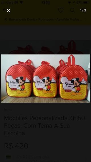 Mochilinhas Infantil Personalizada Kit Com 80 Peças,