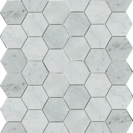 Malla Decorativa Muro Mod. Hades Carrara (30x30) Importación