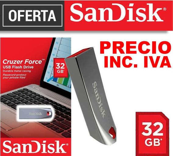 Flash Memory Sandisk 32gb 100% Originales Precio Inc Iva**