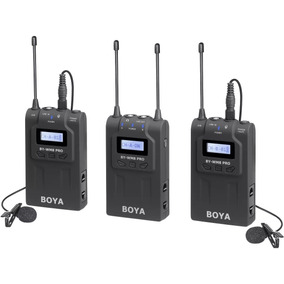 Microfone Lapela Duplo Sem Fio Boya By-wm8 K2 Transmissores