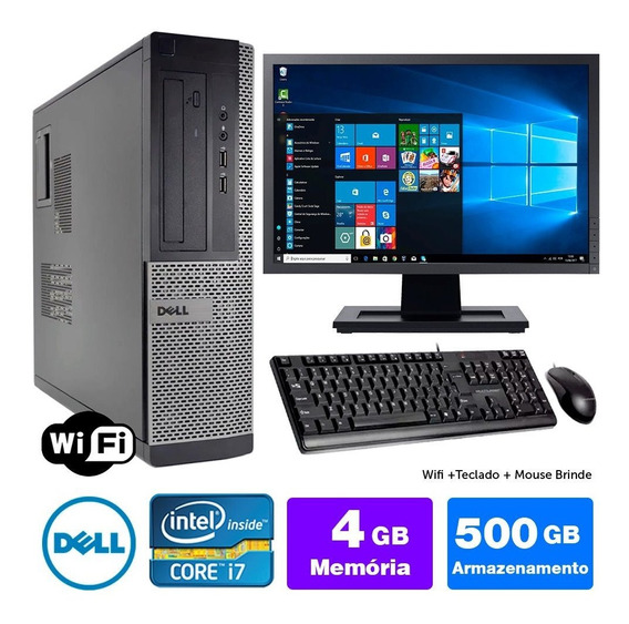 Micro Barato Dell Optiplex 7010int I7 4gb 500gb Mon19w
