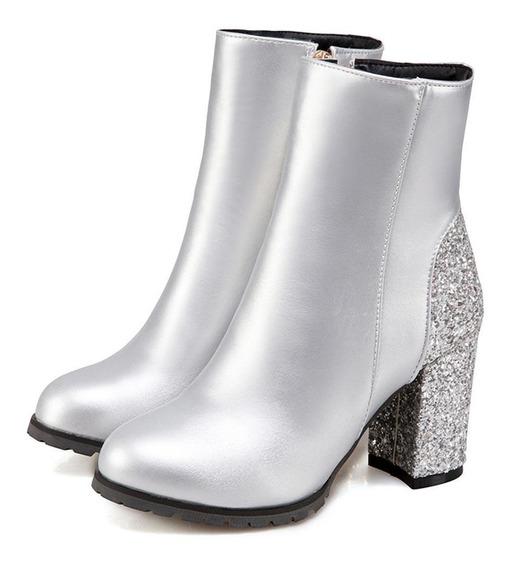 Ankle Boot Feminina Sgesvier 48500 Importado Frete Grátis