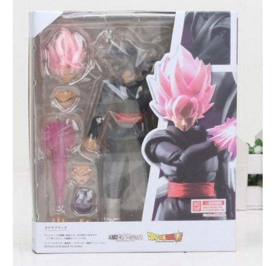 Boneco Articulado Goku Black Dragon Ball Z Cabelo Rosa Pink