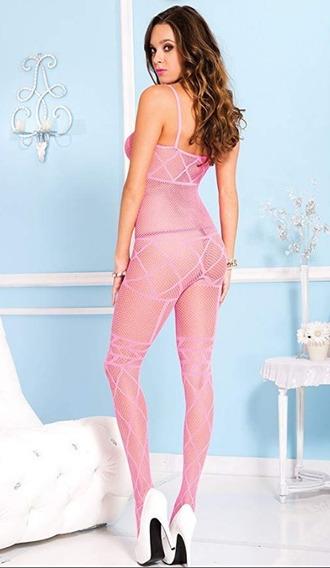 Bodystocking Mod. Neón Pink , Unitalla, Sexy, Importación