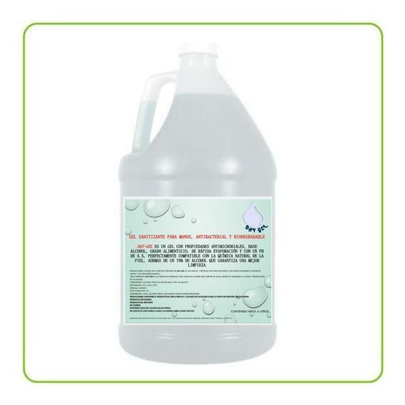 Gel Antibacterial Elimina Virus Y Bacterias 4 Litros
