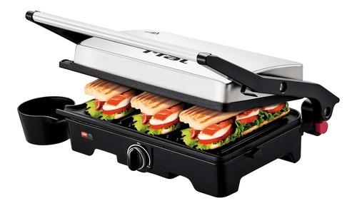 Imagen 1 de 10 de Parrilla T-fal Panini Doble Placa Antiadhente 1100w Sandwich