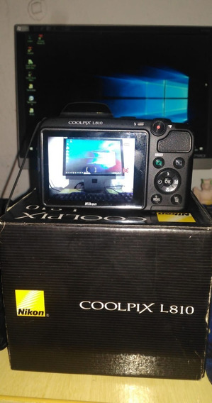 Câmera Semi-profissional Nikon Coolpix L810 - Usada Conserva