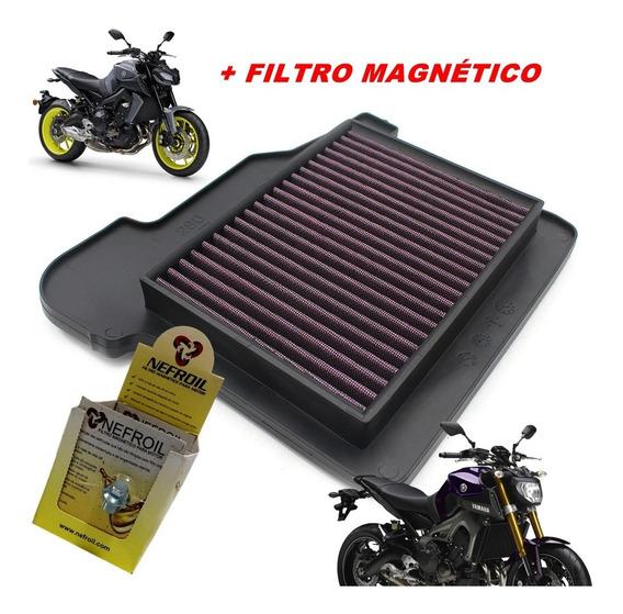 Filtro De Ar Esportivo Yamaha Mt09 Mt 09 Mt-09 Todas+ Brinde