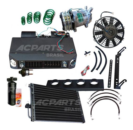 Kit Ar Condicionado Automotivo Universal Com Compressor Para Instalação Volkswagen, Chevrolet, Ford, Toyota, Jeep