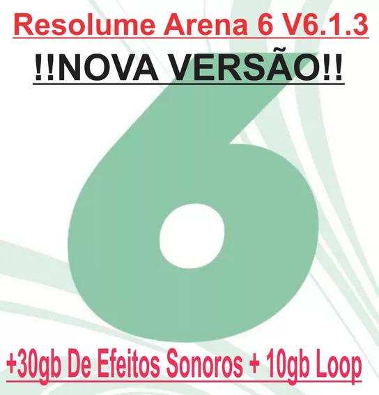 Resolume Arena 6 V6.1.3+ 30gb De Efeitos Sonoros+ 10gb Loop