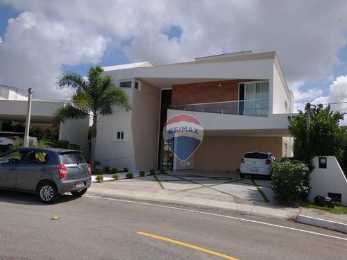 Casa Duplex Totalmente Mobiliada Em Condomínio Fechado - 680m² - Parque Do Jiqui - Parnamirim/rn. - Ca0200