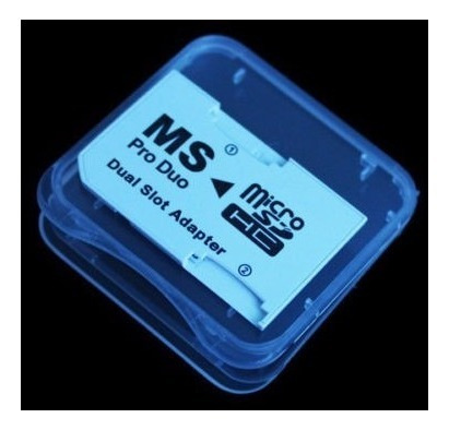 Doble Ranura Micro Sd Sdhc Tf A Memory Stick Ms Pro Duo Adap