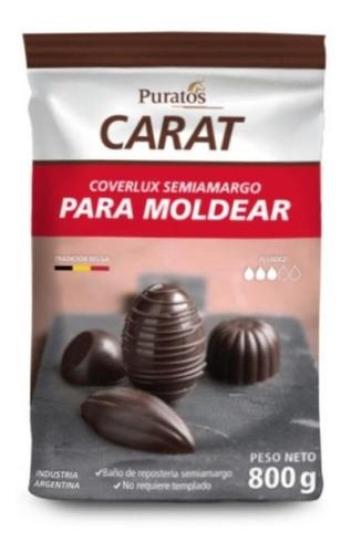 Chocolate Carta Coberlux Semi Amargo 800grs
