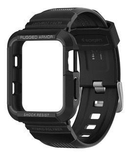 Case Pulseira Spigen Apple Watch 42mm Rugged Armor Pro Black