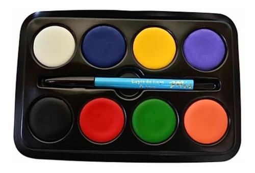 Imagen 1 de 1 de Maquillaje Artistico Pintura Paleta X 8 Halloween Semi 32grs