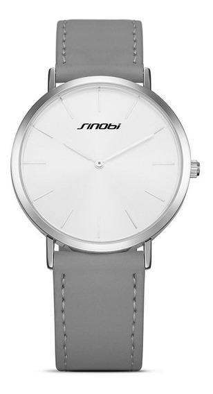 Sinobi 9691 Mulheres Relógio Simples Pu Correia De Couro Lux