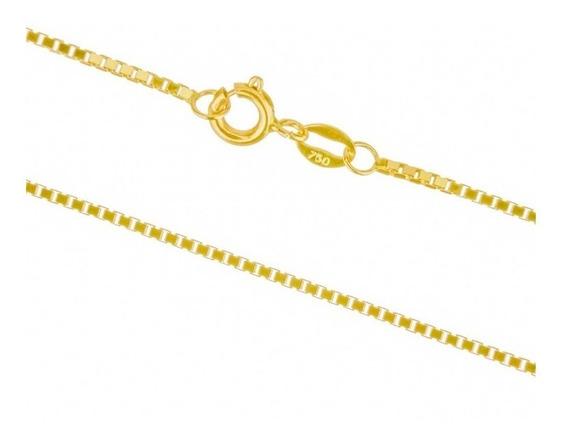 Corrente Cordão Ouro 18k Feminina Veneziana 45 Cm 1 Grs