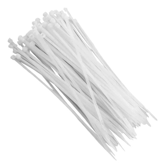 100 Abraçadeira Nylon Enforca Gato 100x2,5mm Branca Beltools