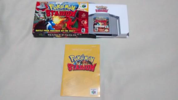 Pokemon Stadium Original Manual Original E Caixa Nintendo 64