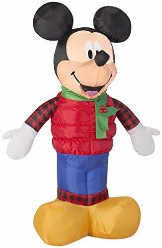 Imagen 1 de 5 de Gemmy 12445 Mickey Outfit Navidad Inflable 3.5ft Alto