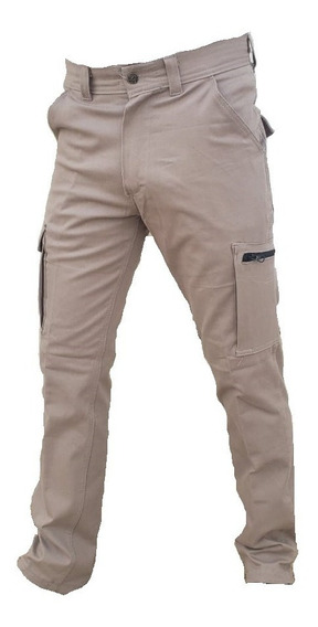 Pantalon Cargo Elastizado Explora Trabajo Hombre Semi Slim