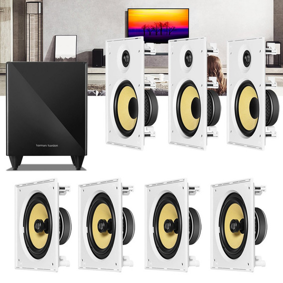 Kit Home Theater 7.1 Jbl Caixa Embutir Ci8r + Ci8s + Sub 210