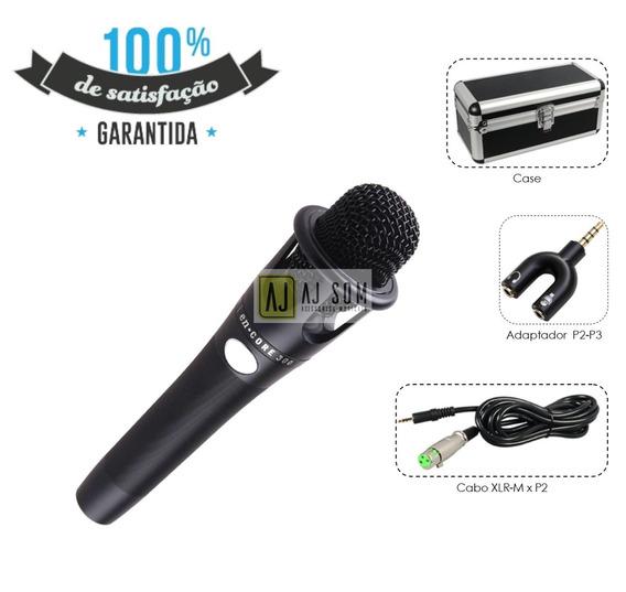 Kit Microfone Profissional P/gravação,cabo,case,adaptador