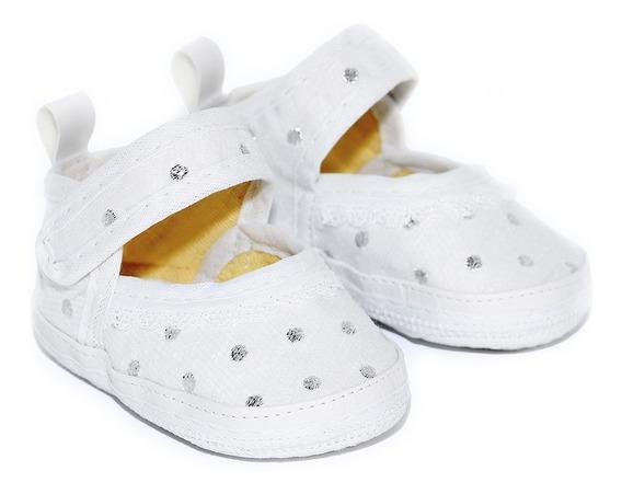 Sapato Bebê Menina Batizado Branco