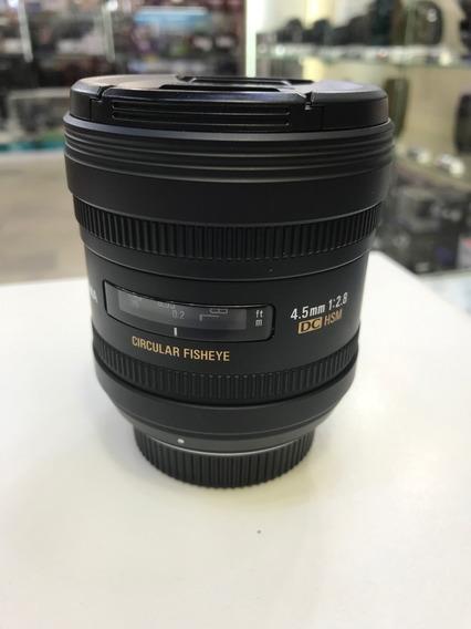 Sigma 4.5 Fisheye F/2.8 Para Nikon Seminova