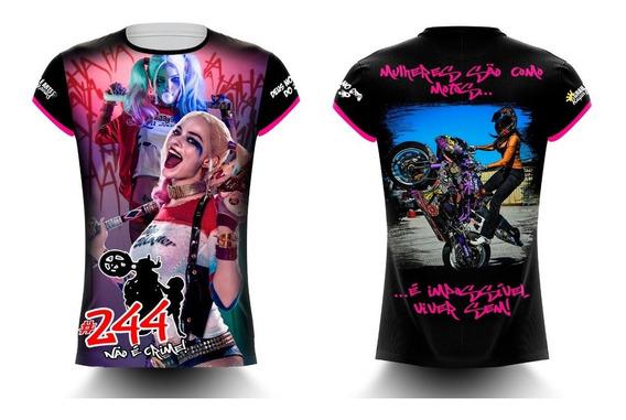 Camisa/camiseta Feminina Alerquina Motos