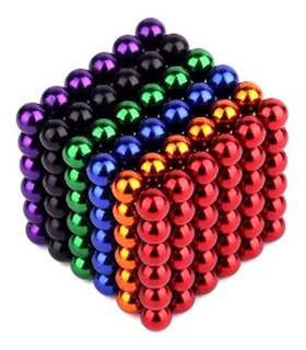 Cubo Magnetico Multicolor 216 Bolitas 5mm Iman Didactico