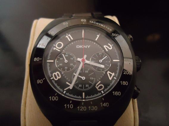 Reloj Dkny Caballero Negro Cerámica