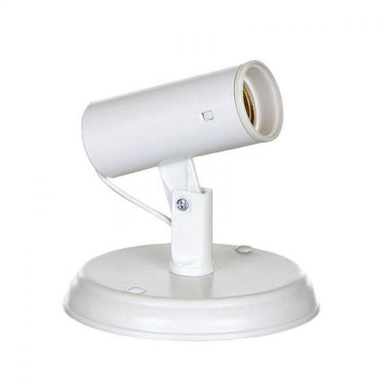 Kit 5 Spots Liso Flex Branco De Plastico Para 1 Lâmpada