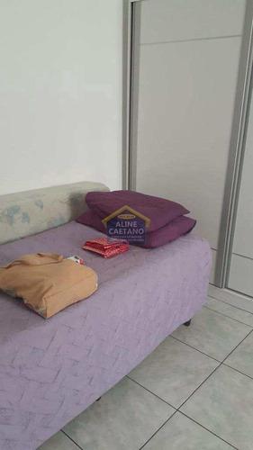 Imagem 1 de 22 de Kitnet Com 1 Dorm, Canto Do Forte, Praia Grande - R$ 135 Mil, Cod: Act1544 - Vact1544