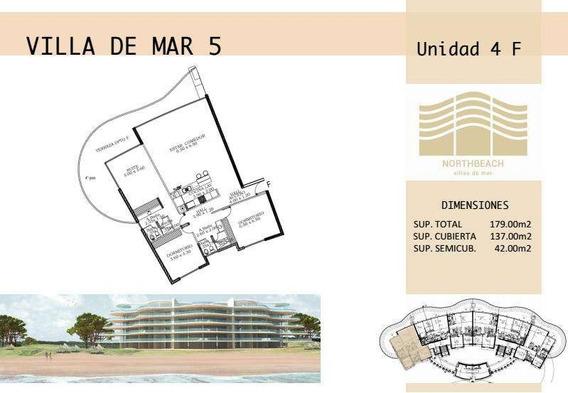 Northbeach Dpto 3 Dormitorios 190m2 Frente Al Mar 4f Villa5