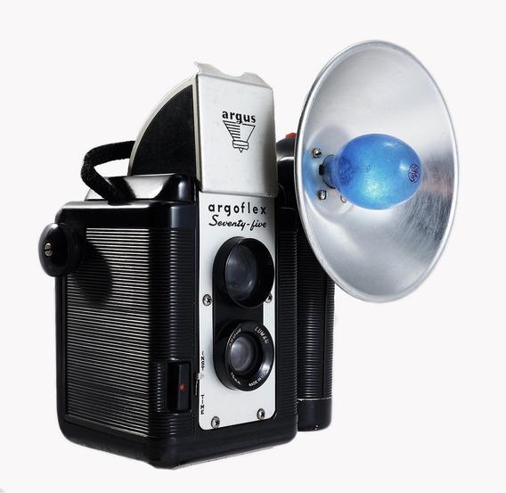 Old Câmera Argoflex 75 C/flash Original, Linda E Operacional