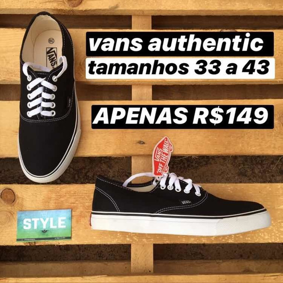 Tênis Masculino Feminino Vans Authentic Original