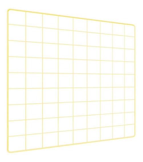 Memory Board Quadro De Fotos Amarelo 6 Mini Prendedores