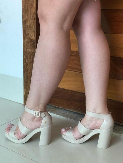 Kit 3 Sandália Melissa Salto Model+brinde Bordo Rosa Nude