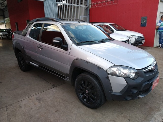 Fiat Strada Adventure 1.8 Cd 2013/2014 Prata