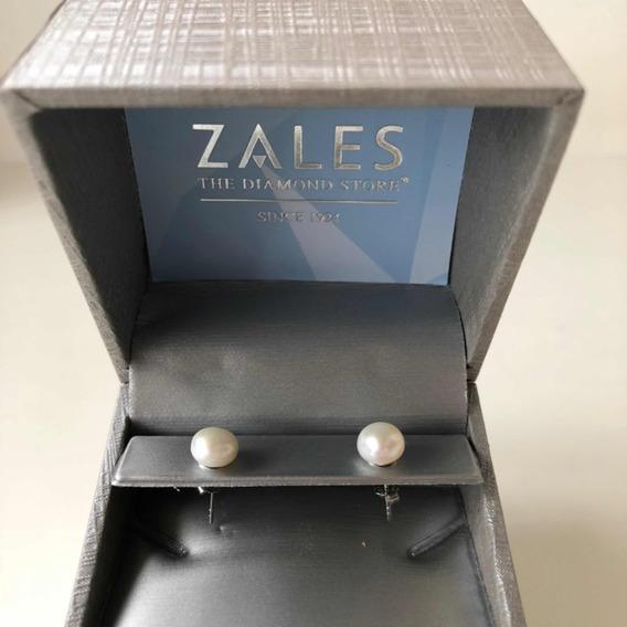 Brinco De Pérola Do Zales Eua 7.0mm Prata Freshwater Pearl